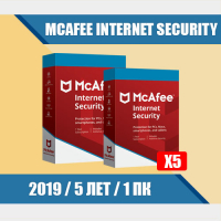 McAfee Internet Security 2019 - 5 ЛЕТ  1 ПК