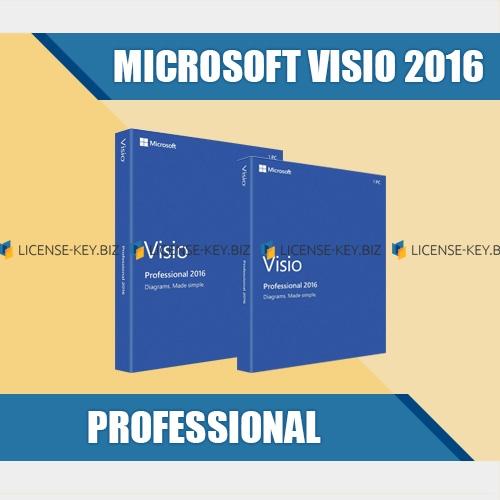 microsoft visio professional 2016 license