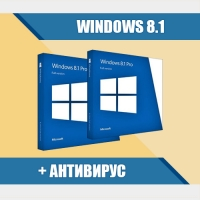 Windows 8.1 Professional (х64/х32) + Антивирус